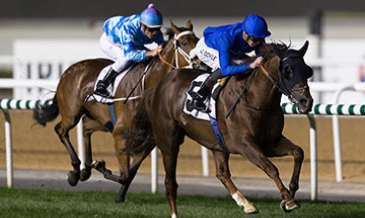 Hunter's Light winning at Meydan